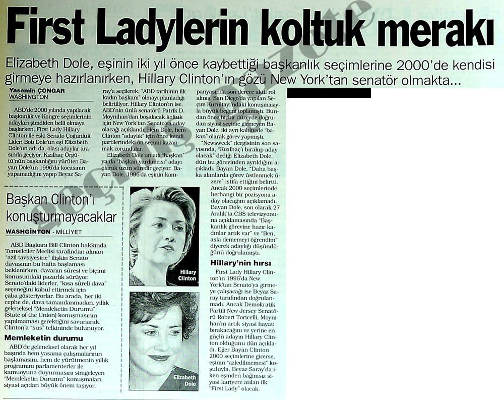 First Ladylerin koltuk merakı