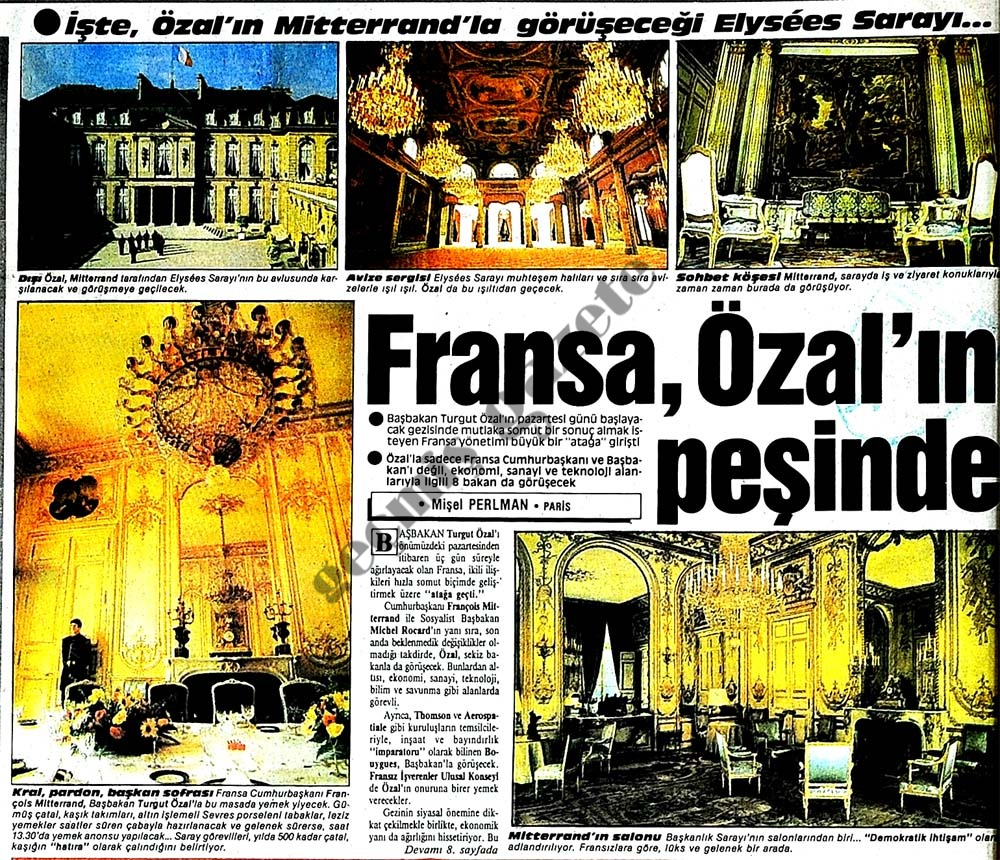 Fransa, Özal'ın peşinde