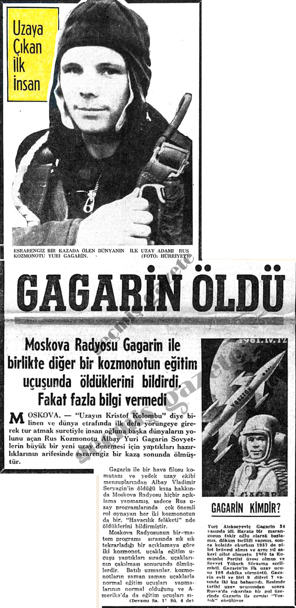 Gagarin öldü