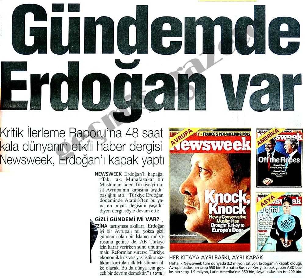 Gündemde Erdoğan var