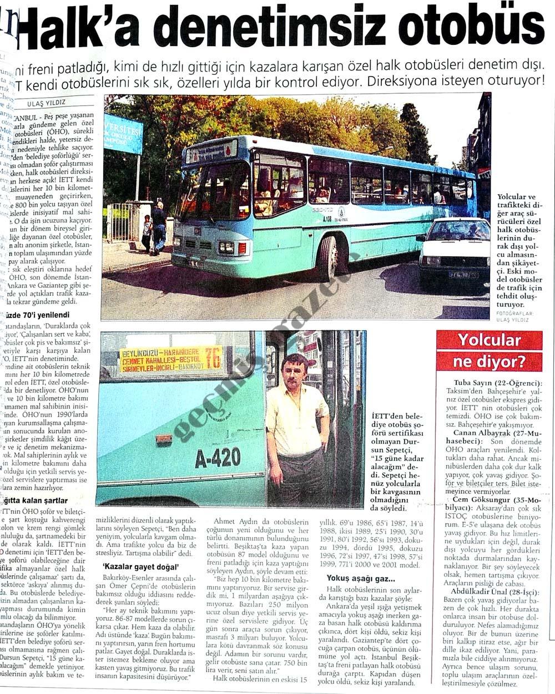 Halk'a denetimsiz otobüs