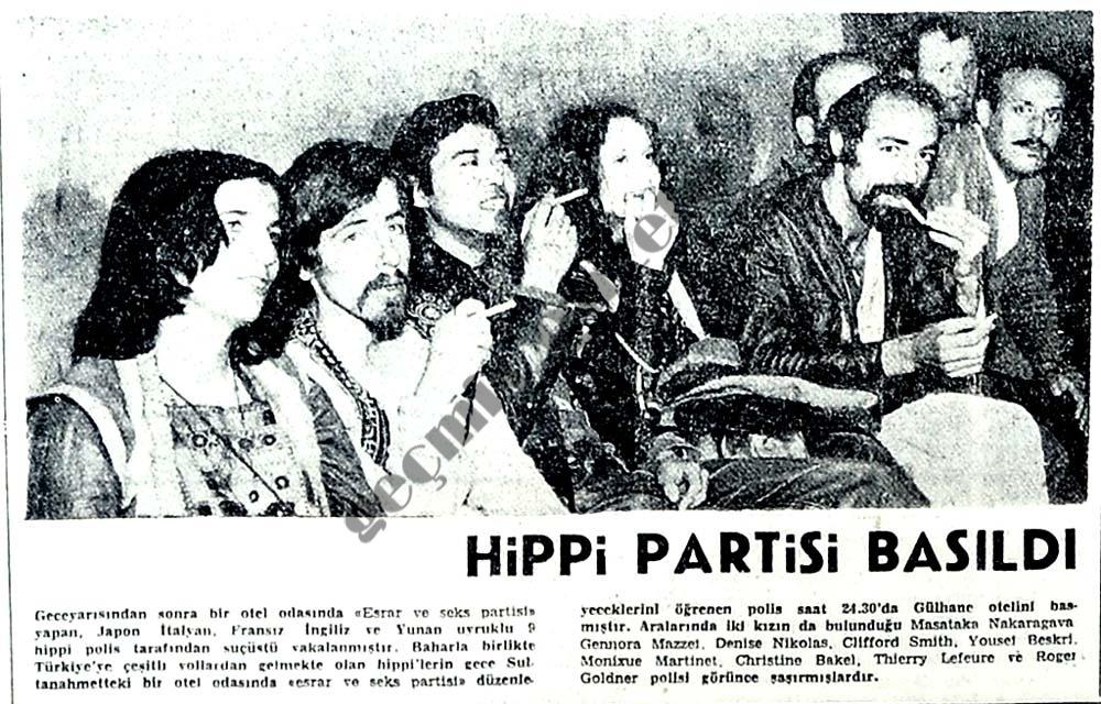 Hippi partisi basıldı