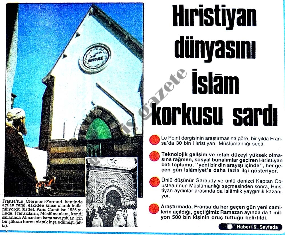 Hıristiyan dünyasını İslam korkusu sardı