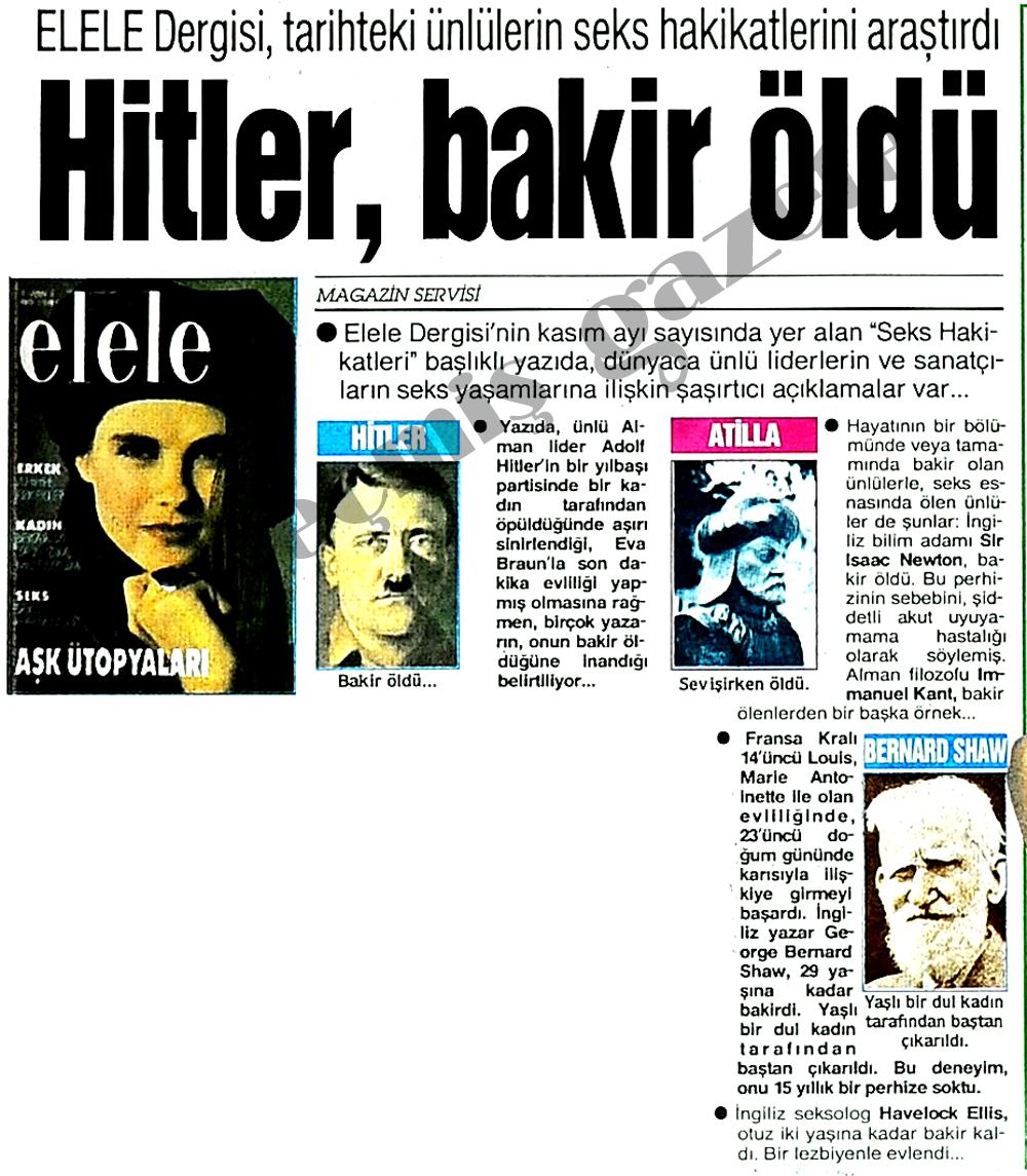 Hitler, bakir öldü
