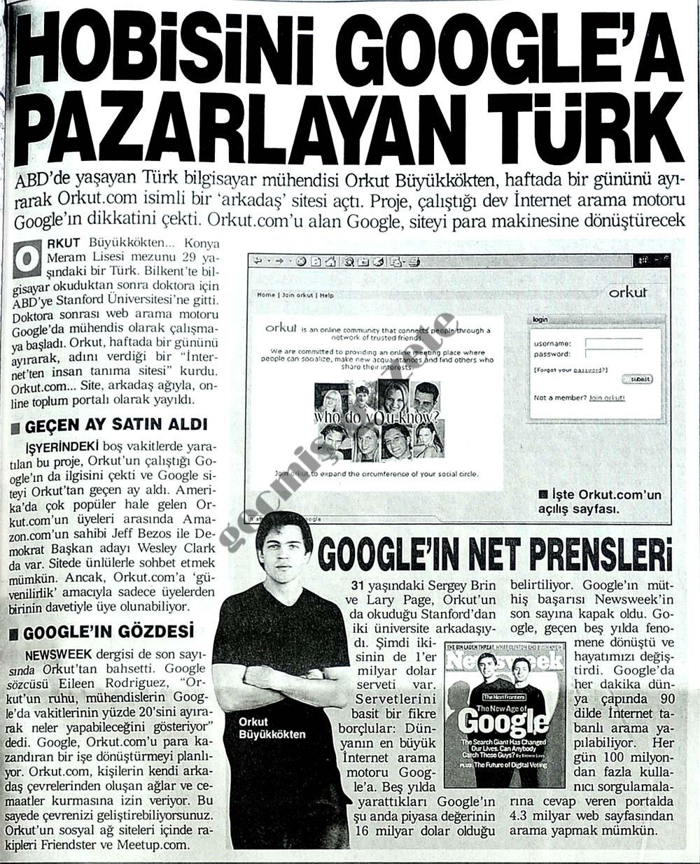 Hobisini Google'a pazarlayan Türk