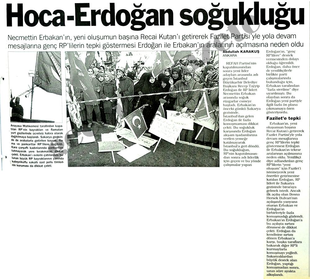 Hoca-Erdoğan soğukluğu
