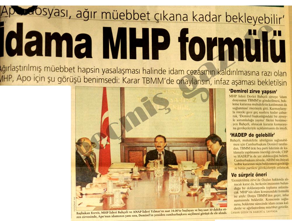 İdama MHP formülü