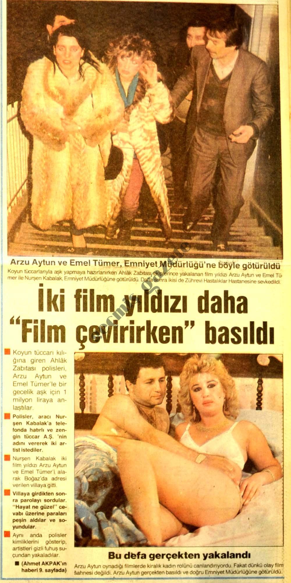 """İki film yıldızı daha """"Film çevirirken"""" basıldı"""