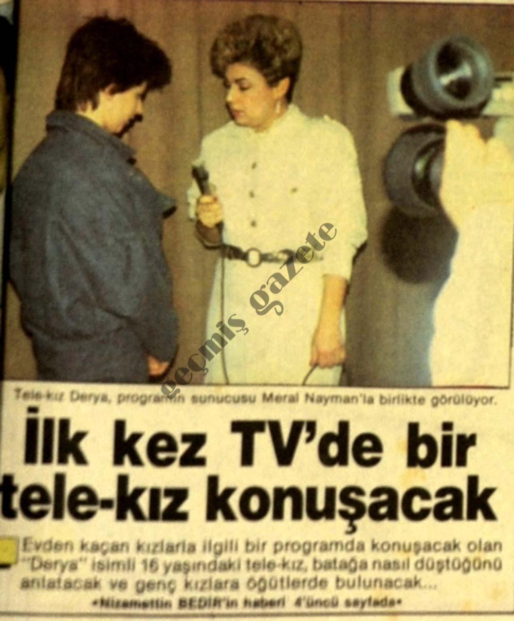 İl kez TV'de bir tele-kız konuşacak
