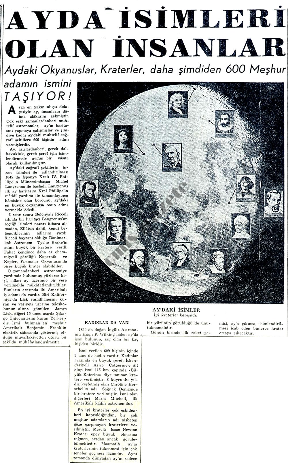 Ayda isimleri olan insanlar
