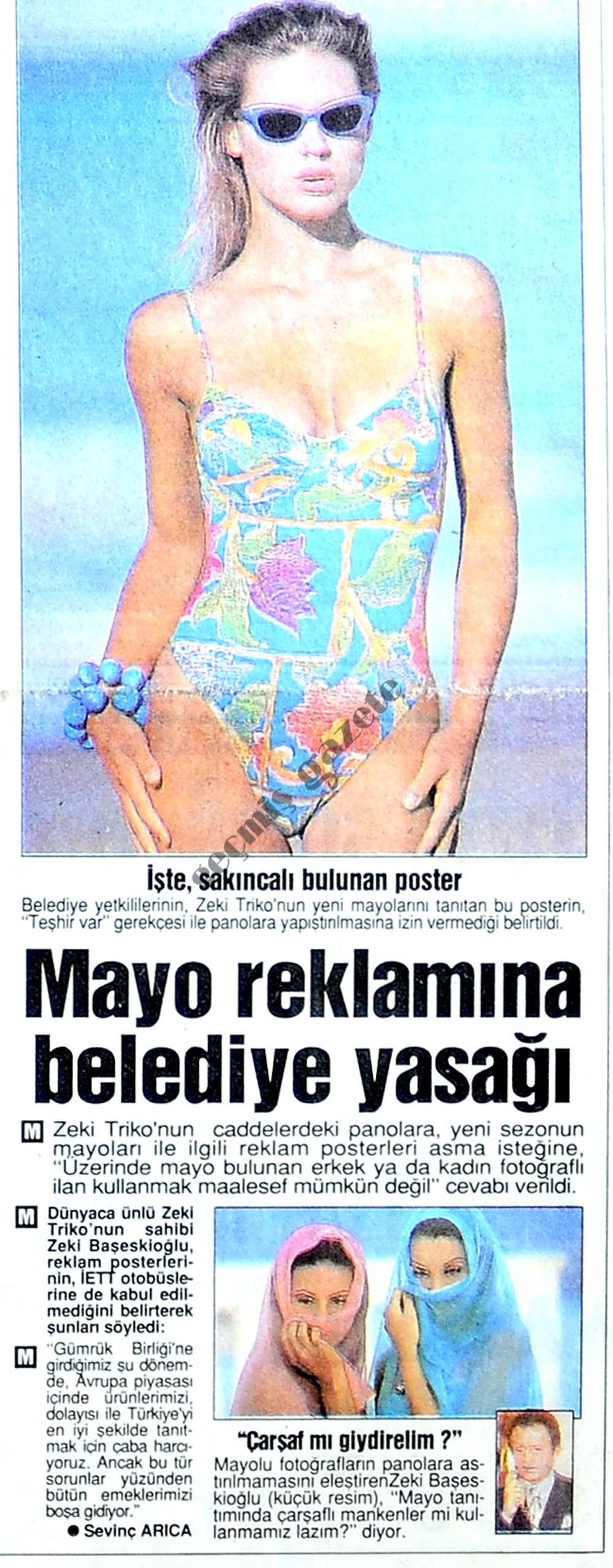 Mayo reklamına belediye yasağı