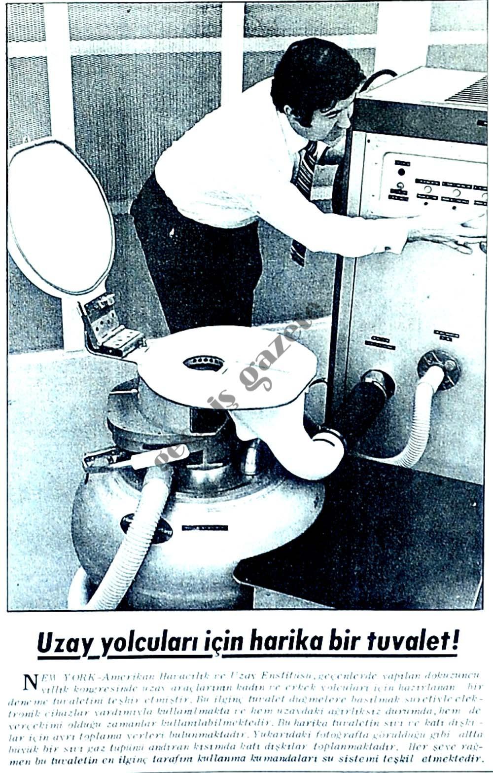 Uzay yolcuları için harika bir tuvalet!