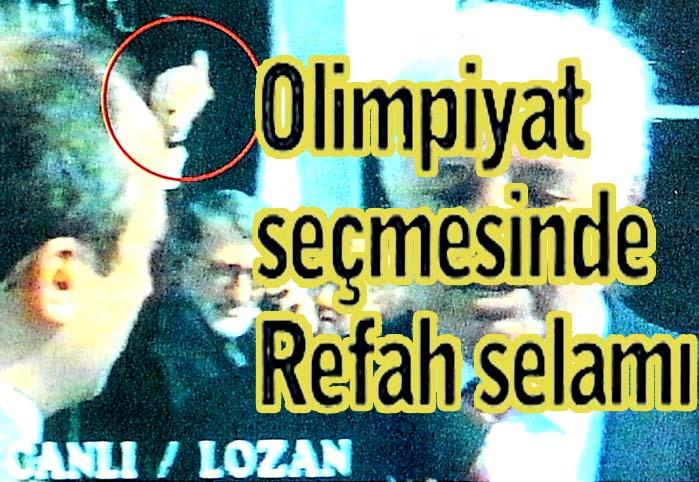 Olimpiyat seçmesinde Refah selamı