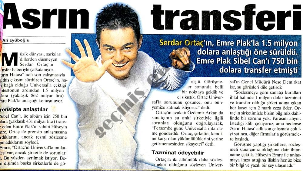 Asrın transferi