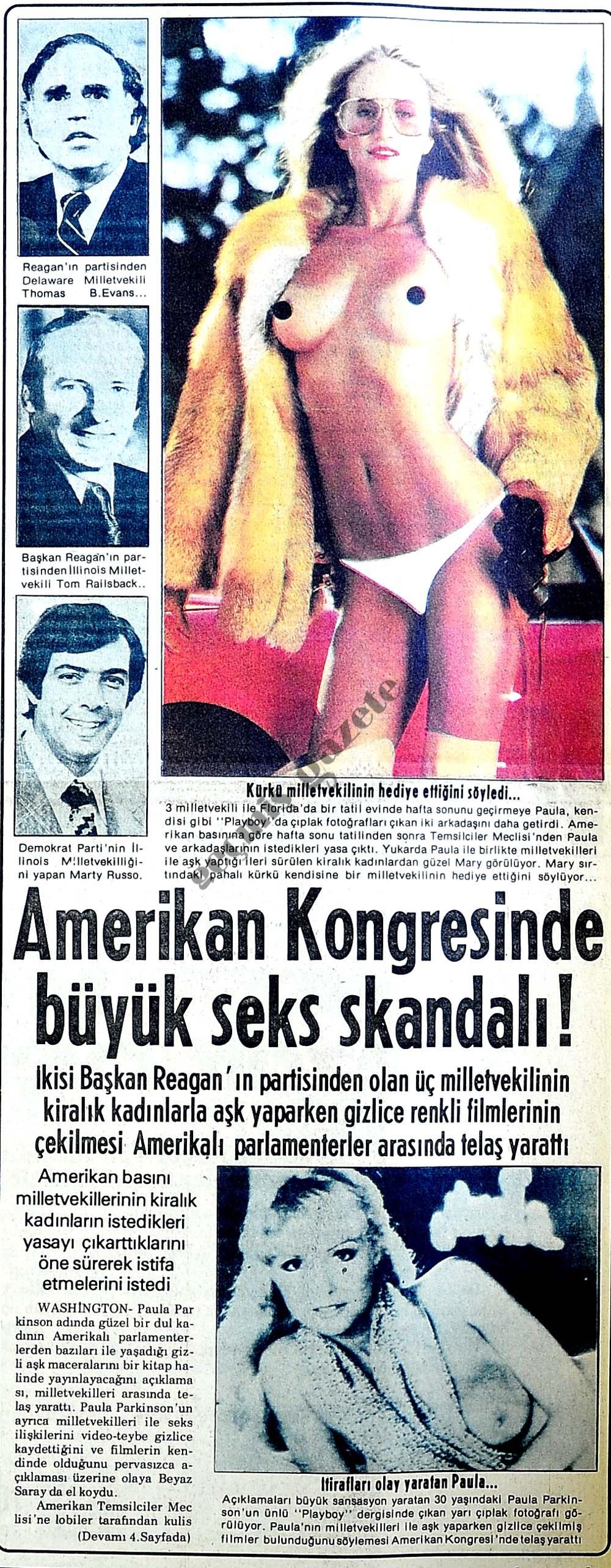 Amerikan kongresinde seks skandalı!