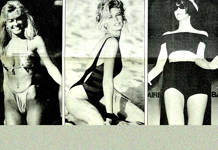 1990 yazında plajlar siyah-beyaz