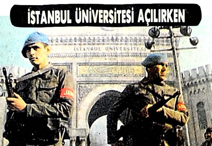 İstanbul Üniversitesi açılırken