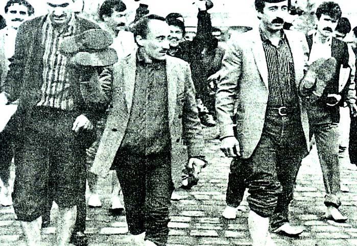 İşçiler, çıplak ayakla yürüdü