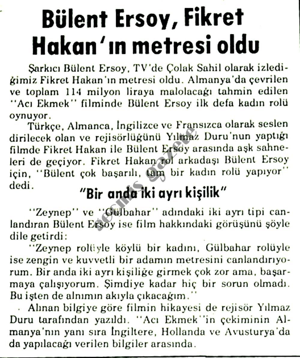 Bülent Ersoy, Fikret Hakan'ın metresi oldu !