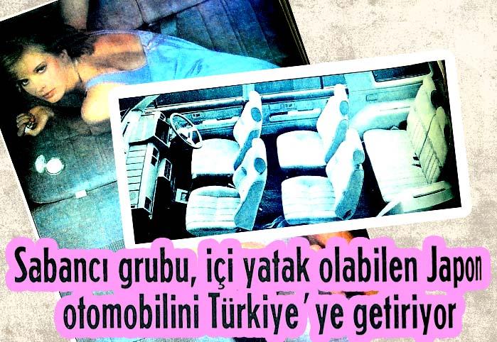 Sabancı grubu, içi yatak olabilen Japon otomobilini Türkiye'ye getiriyor