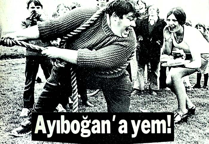 Ayıboğan'a yem!