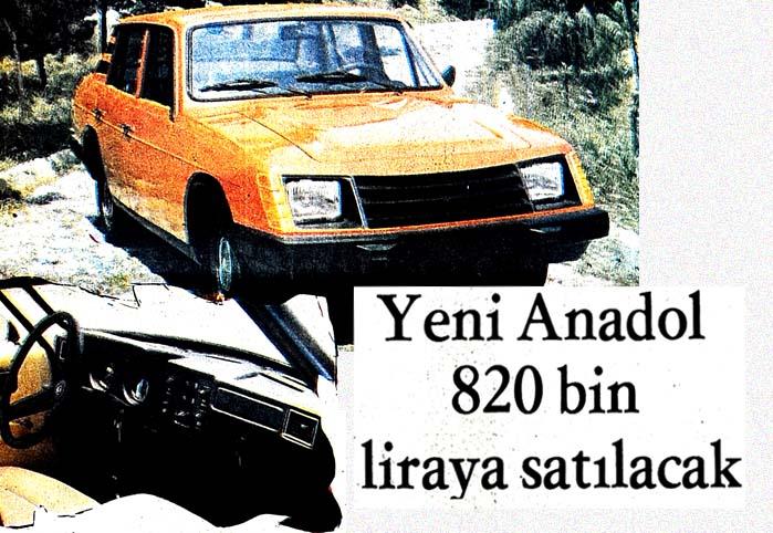 Anadol-16'lar piyasaya çıkarıldı