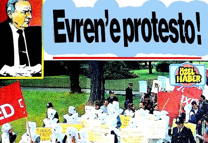 Evren'e protesto