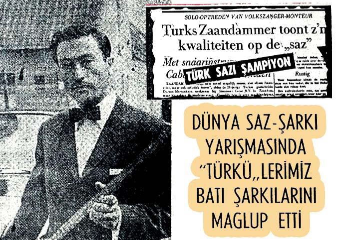 Türk sazı şampiyon