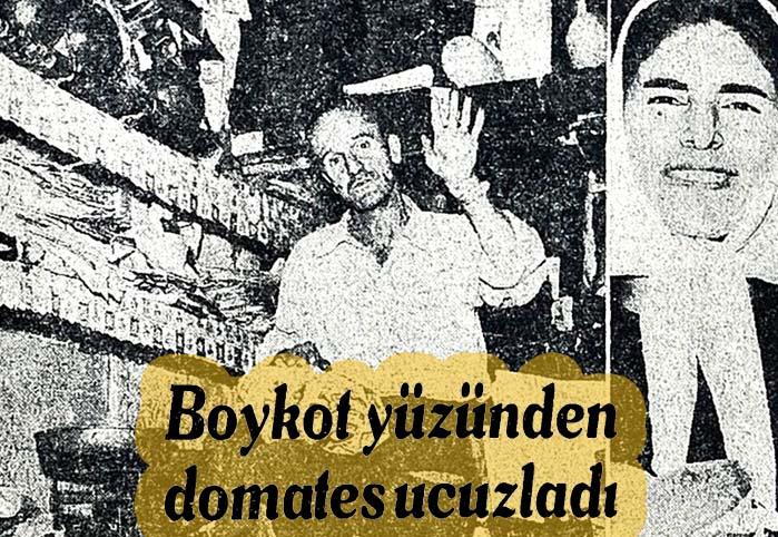 Boykot yüzünden domates ucuzladı