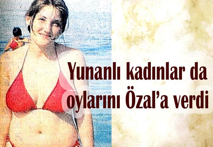 Yunanlı kadınlar da oylarını Özal'a verdi