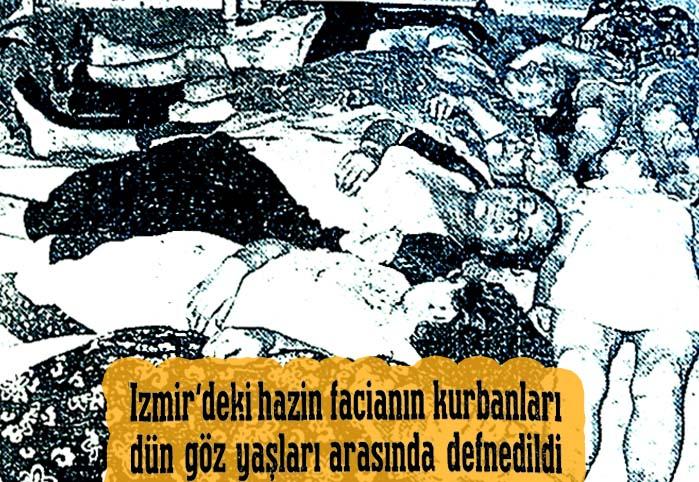 İzmir'deki hazin facianın kurbanları dün göz yaşları arasında defnedildi