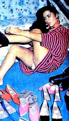 Serpil Çakmaklı ayakkabı rekoru kırdı
