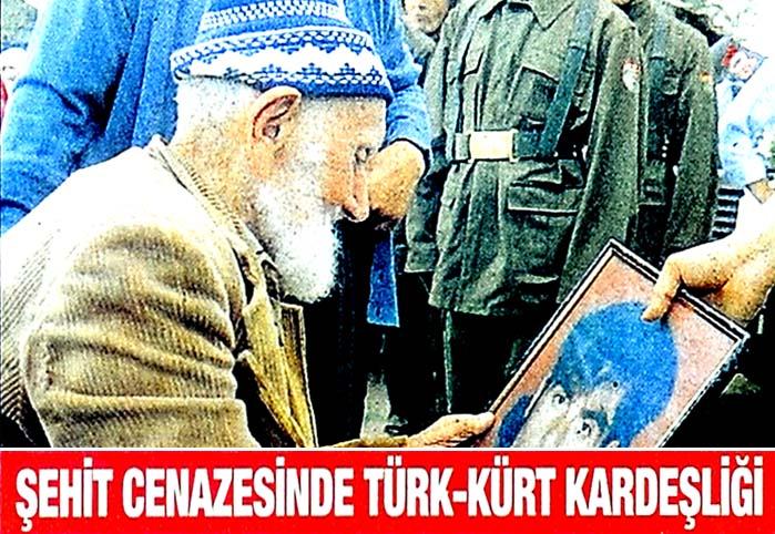 Şehit cenazesinde Türk-Kürt kardeşliği