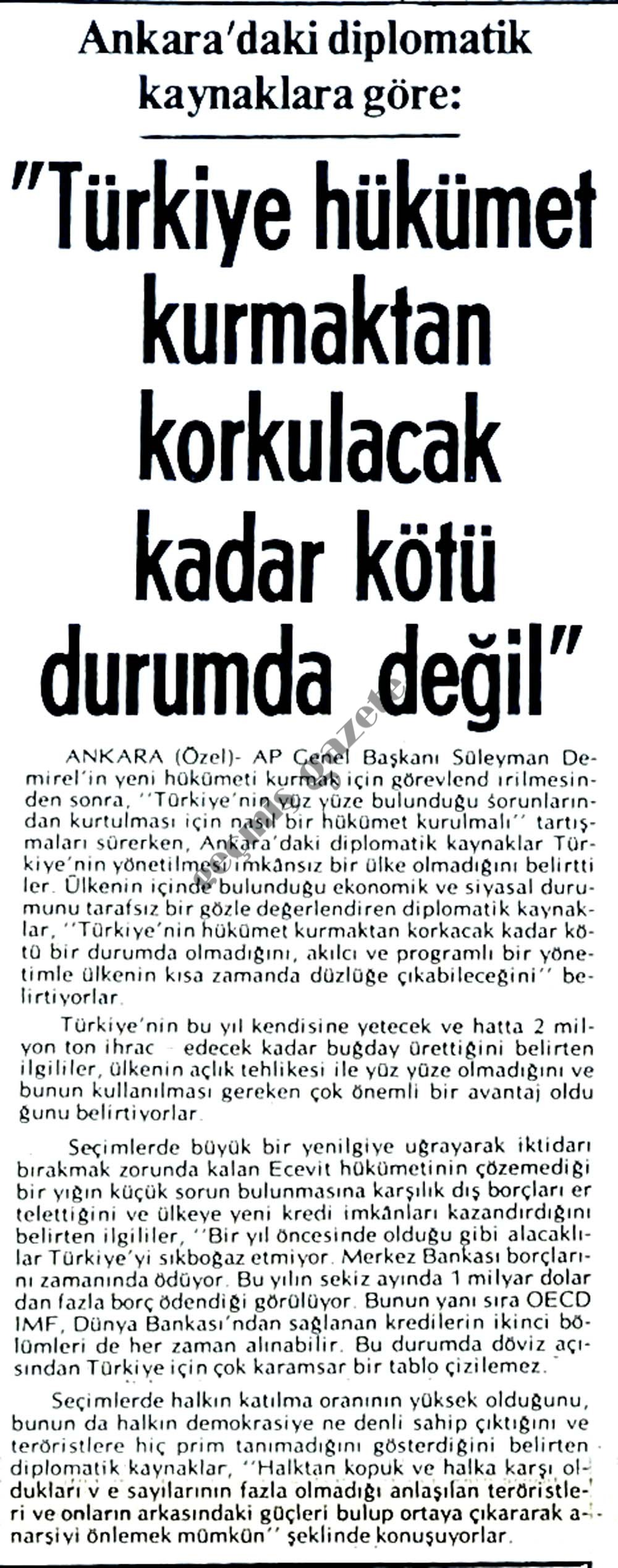 Türkiye yöneltilmesi imkansız bir ülke değil