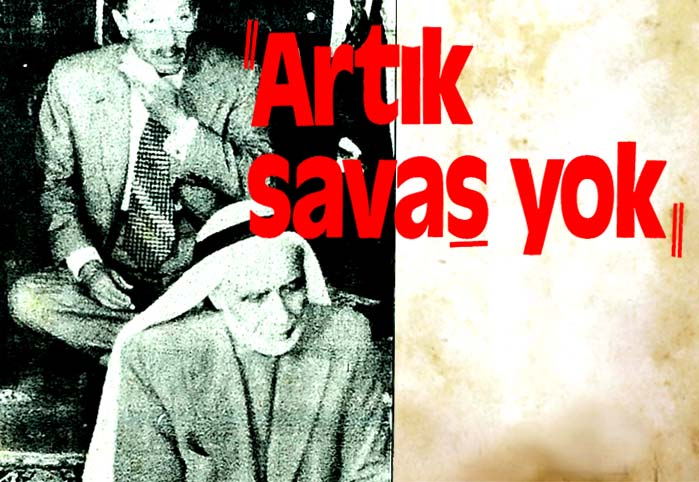 Artık savaş yok