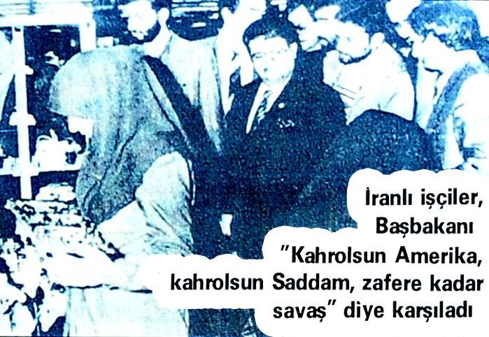 Özal'a slogan atıldı