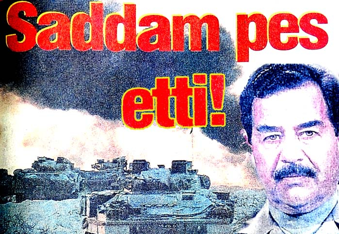 Saddam pes etti!