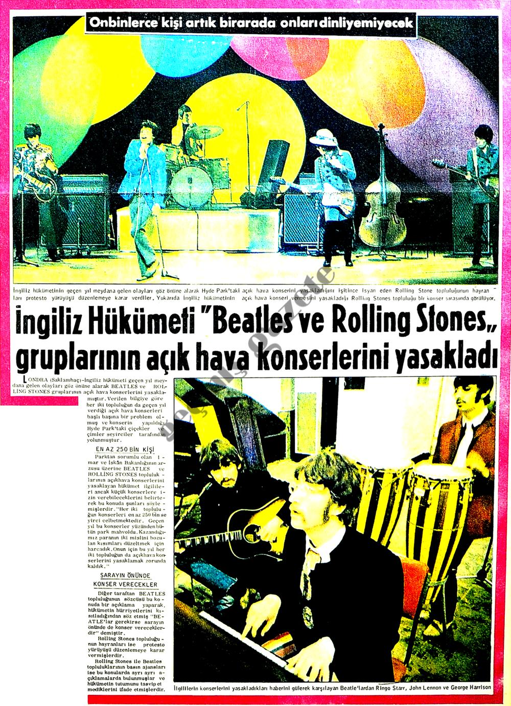 """İngiliz Hükümeti """"Beatles ve Rolling Stones"""" gruplarının açık hava konserlerini yasakladı"""