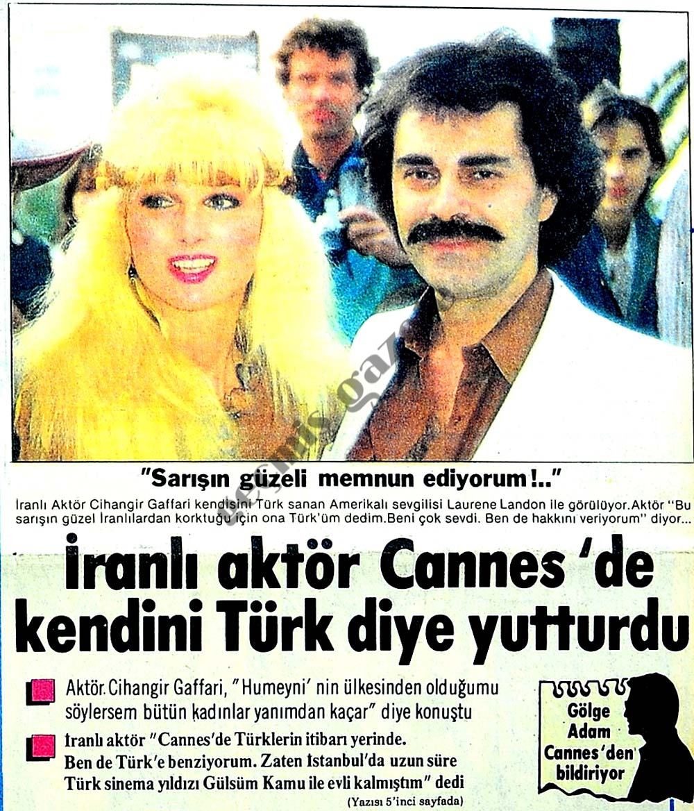 İranlı aktör Cannes'de kendini Türk diye yutturdu