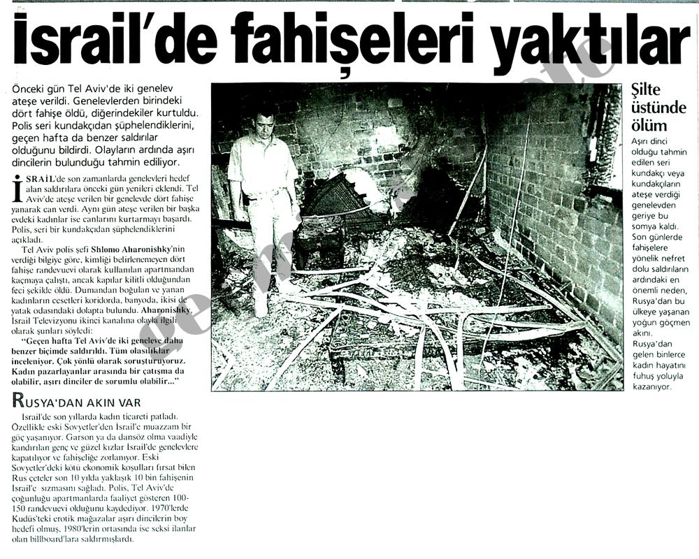 İsrail'de fahişeleri yaktılar