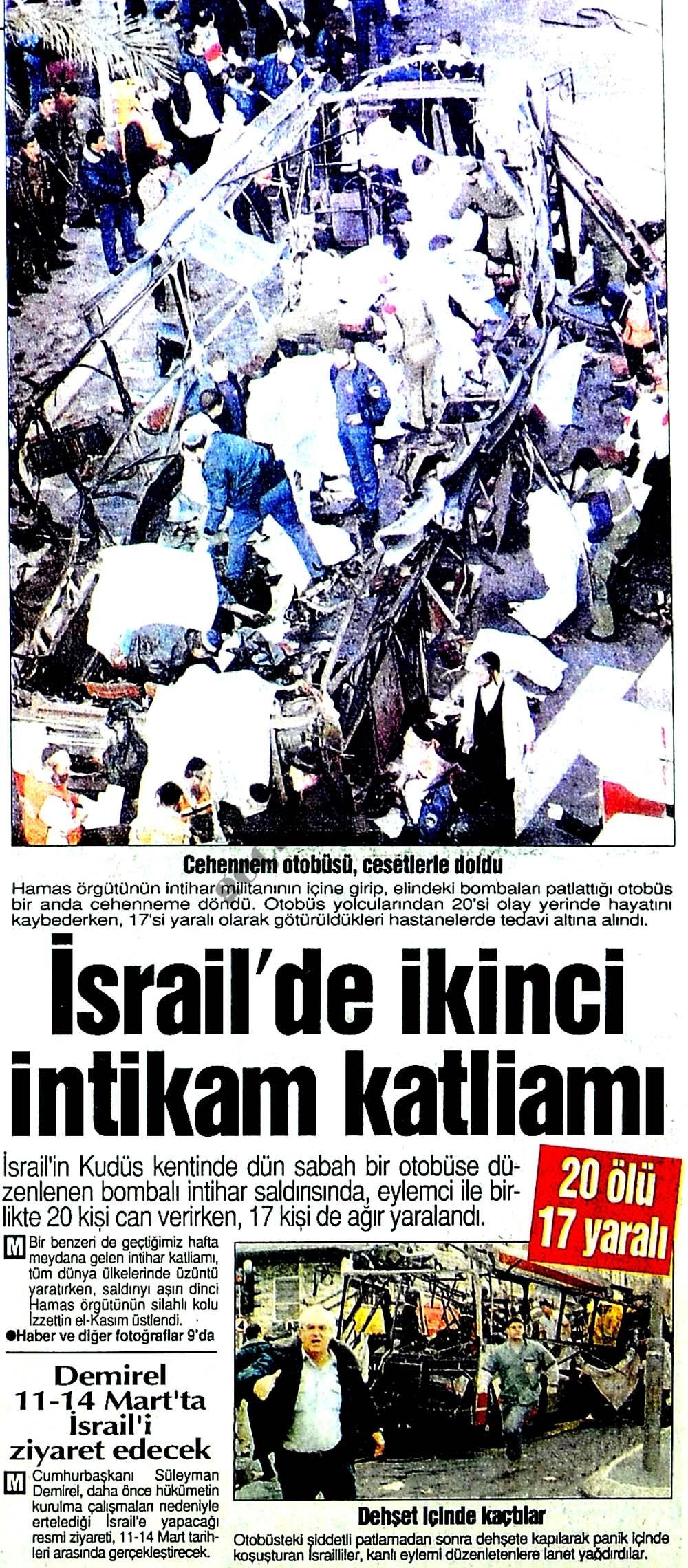 İsrail'de ikinci intikam katliamı