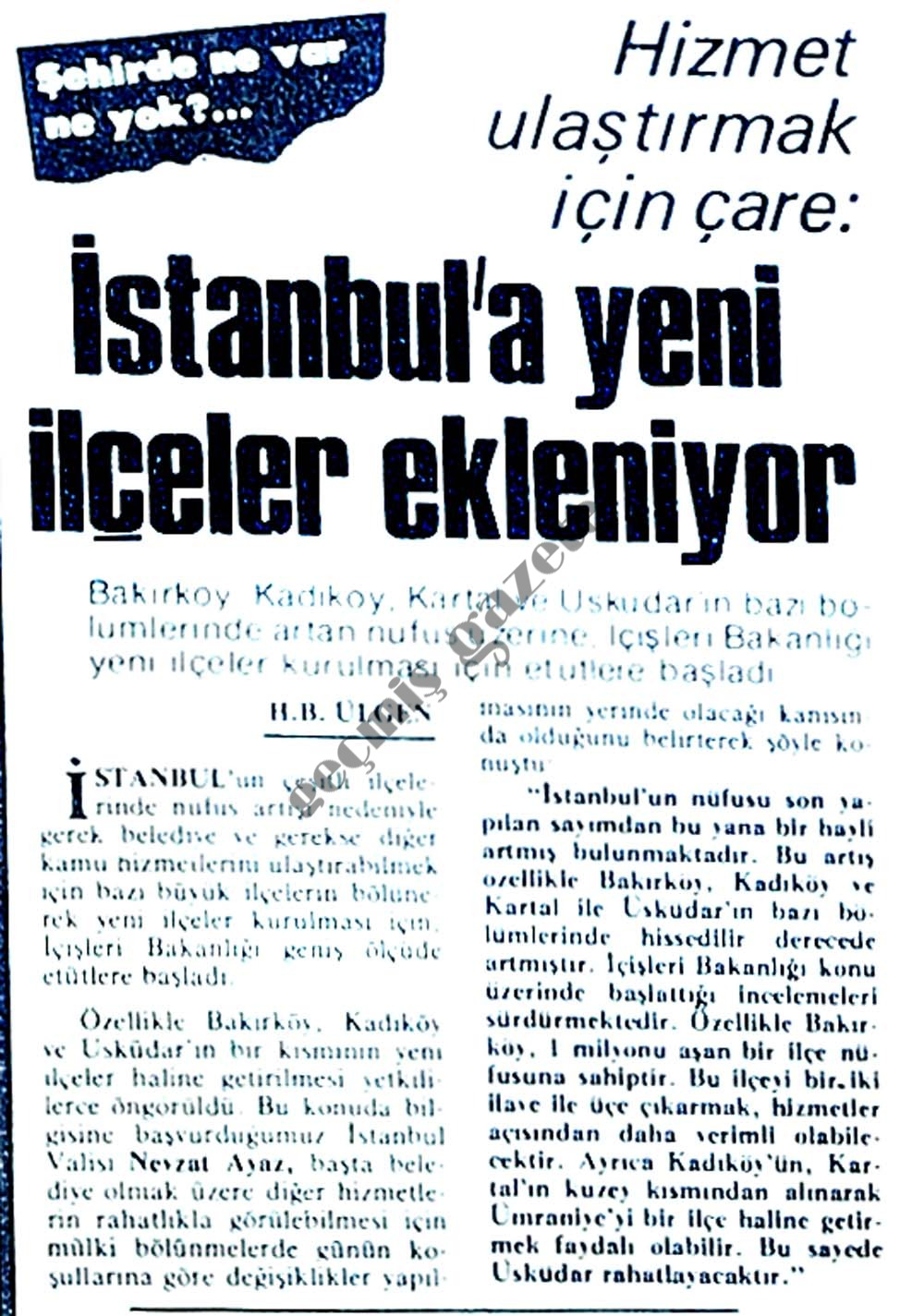 İstanbul'a yeni ilçeler ekleniyor