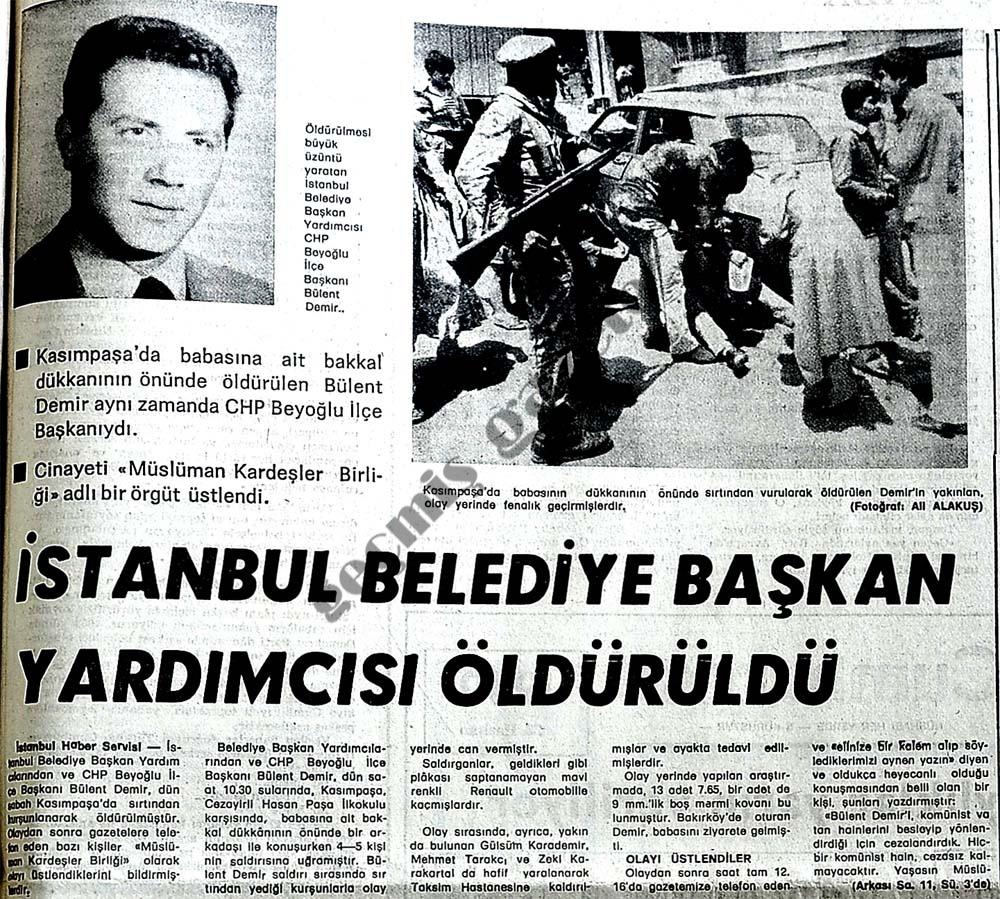 İstanbul Belediye Başkan Yardımcısı öldürüldü