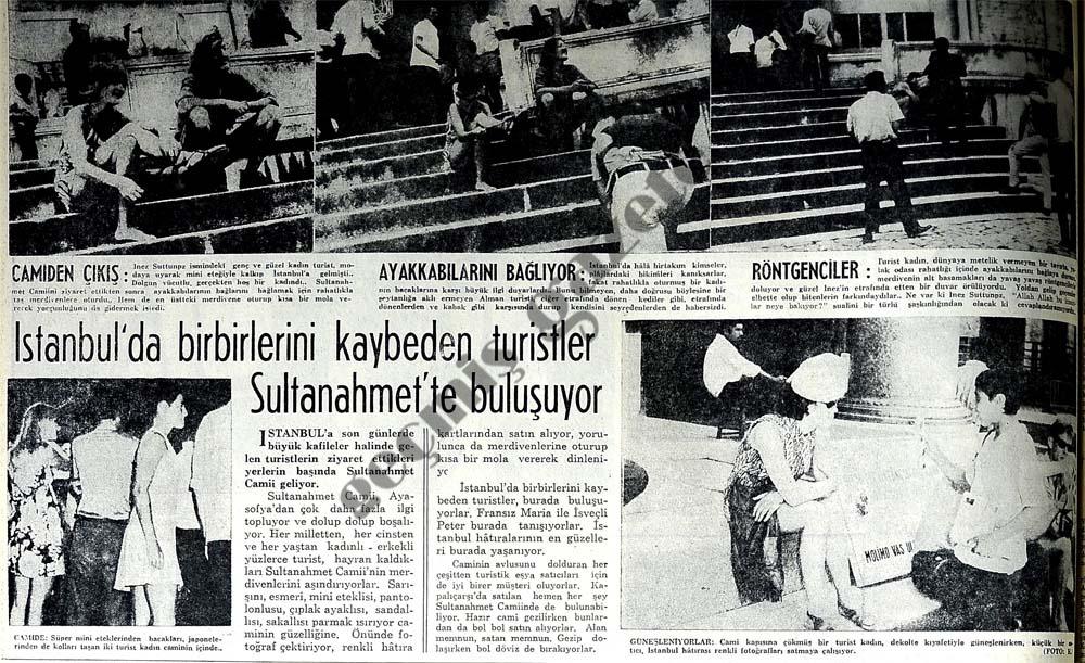 İstanbul'da birbirlerini kaybeden turistler Sultanahmet'te buluşuyor
