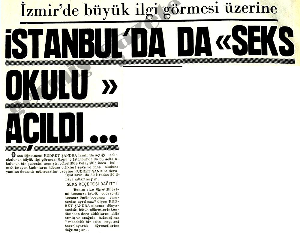 """İstanbul'da da """"Seks Okulu"""" açıldı"""