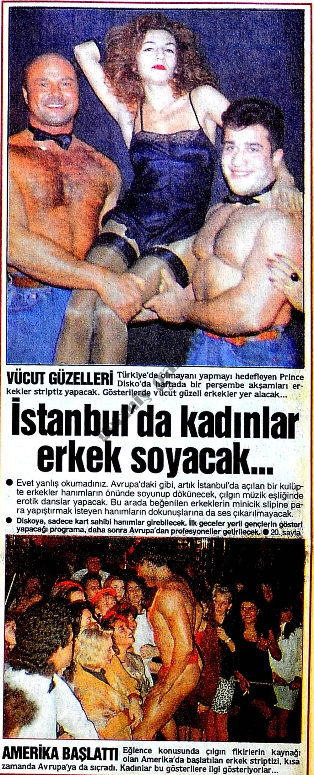 İstanbul'da kadınlar erkek soyacak