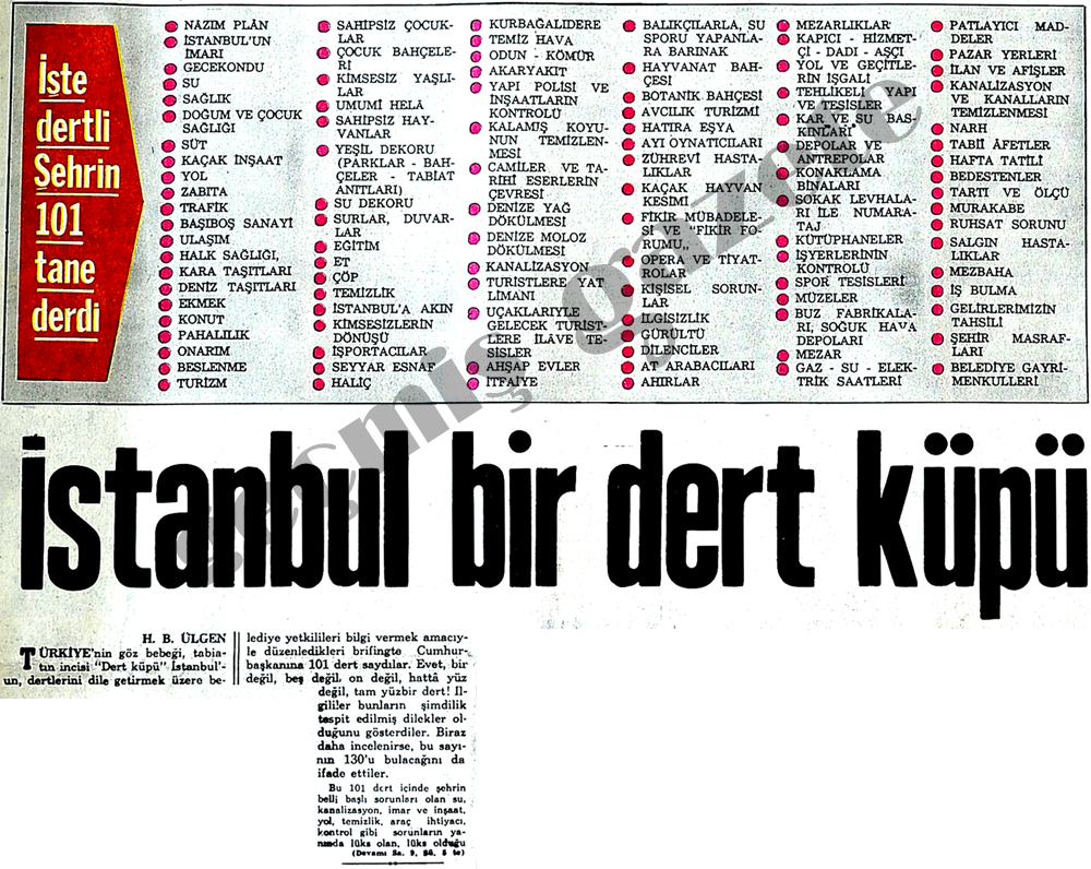 İstanbul dert küpü