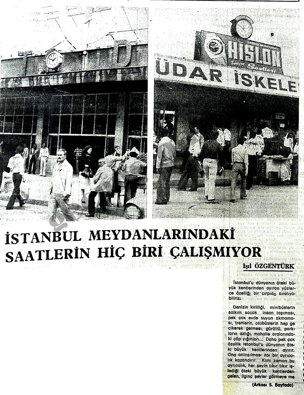 İstanbul meydanlarındaki saatlerin hiç biri çalışmıyor