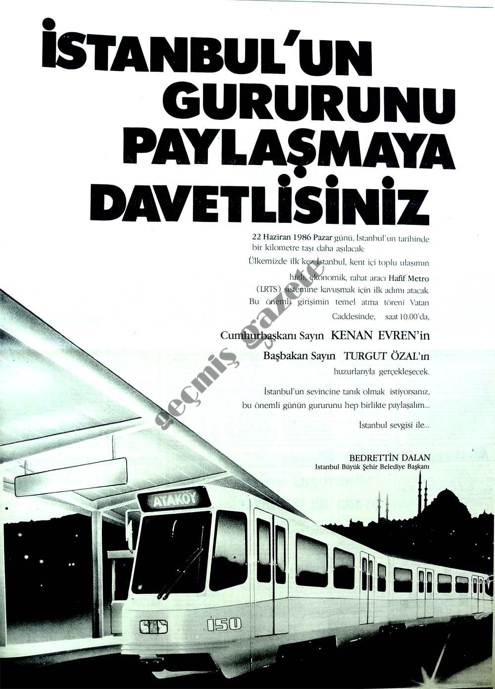 İstanbul'un gururunu paylaşmaya davetlisiniz