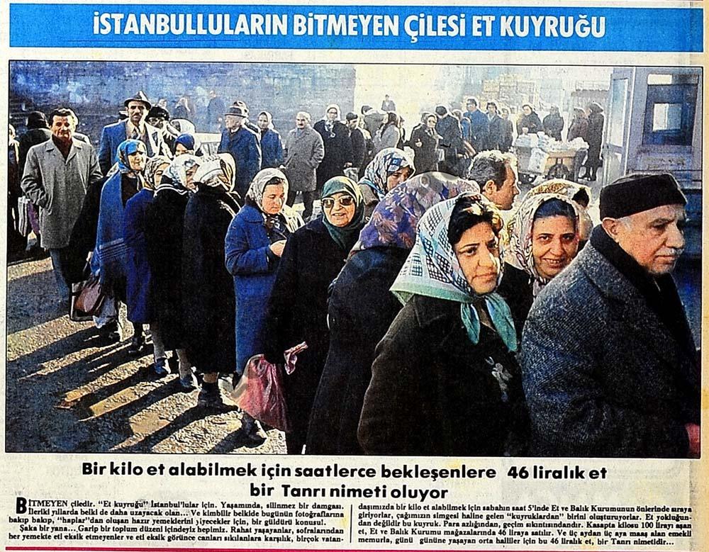 İstanbulluların bitmeyen çilesi et kuyruğu